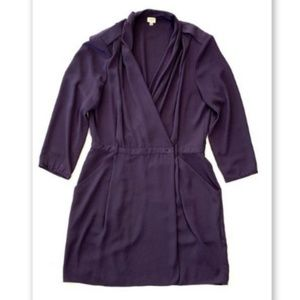 Wilfred Aritzia  6 Purple Wrap Dress Mini Short
